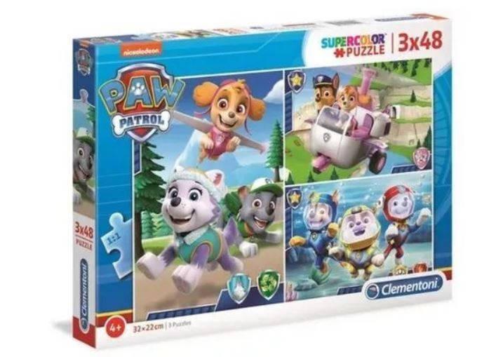 Puzzle 3x48 elementów Psi Patrol Pieski w akcji   Clementoni