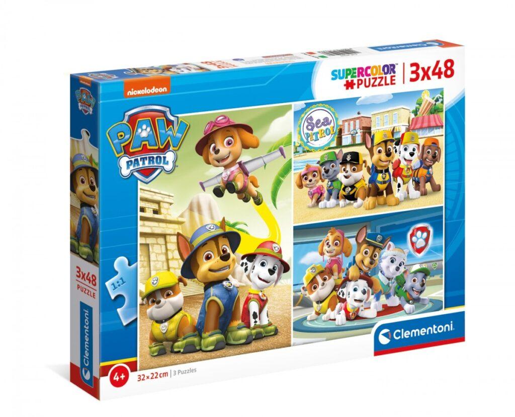 Puzzle 3x48 elementów Psi Patrol Odkrywcy | Clementoni