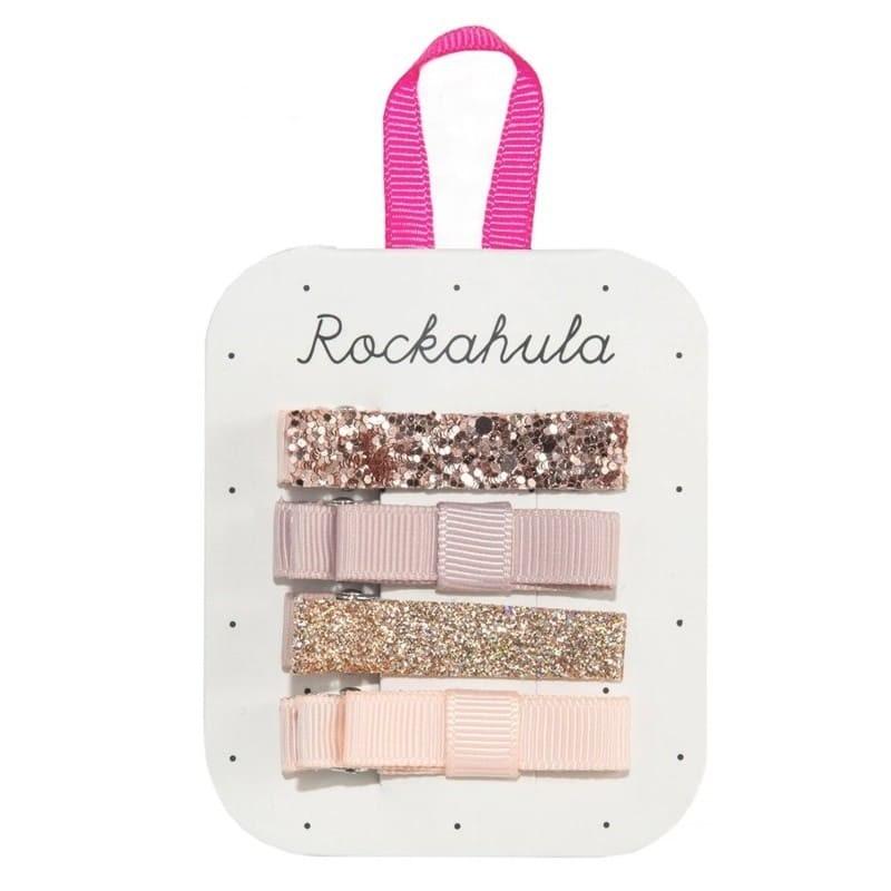 Spinki do włosów 4szt Sparkle Bar Rose Gold | Rockahula Kids