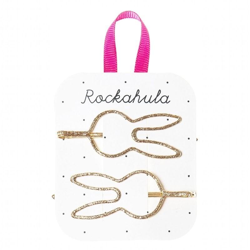 Wsuwki do włosów Glitter Bunny Gold | Rockahula Kids