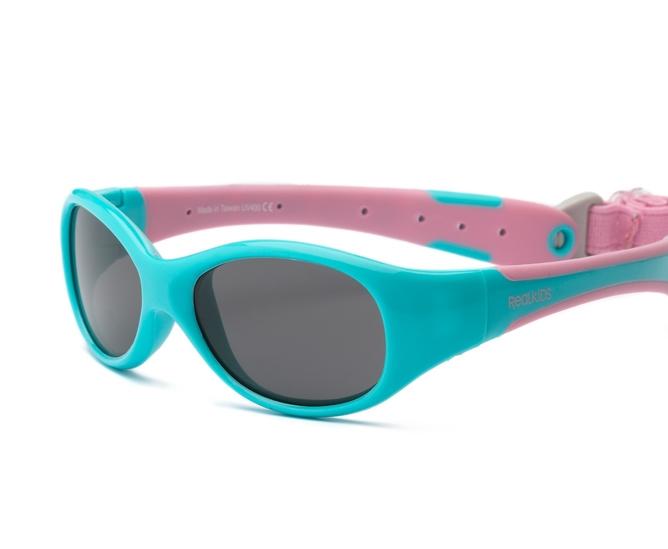 Okulary przeciwsłoneczne Explorer Aqua and Pink 0-1 | Real Shades Kids