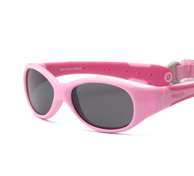Okulary przeciwsłoneczne Explorer - Pink and Hot Pink 0-1 | Real Shades Kids