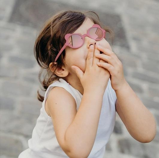 Okulary przeciwsłoneczne OURS'ON 1-2 lata Antik Pink   Kietla