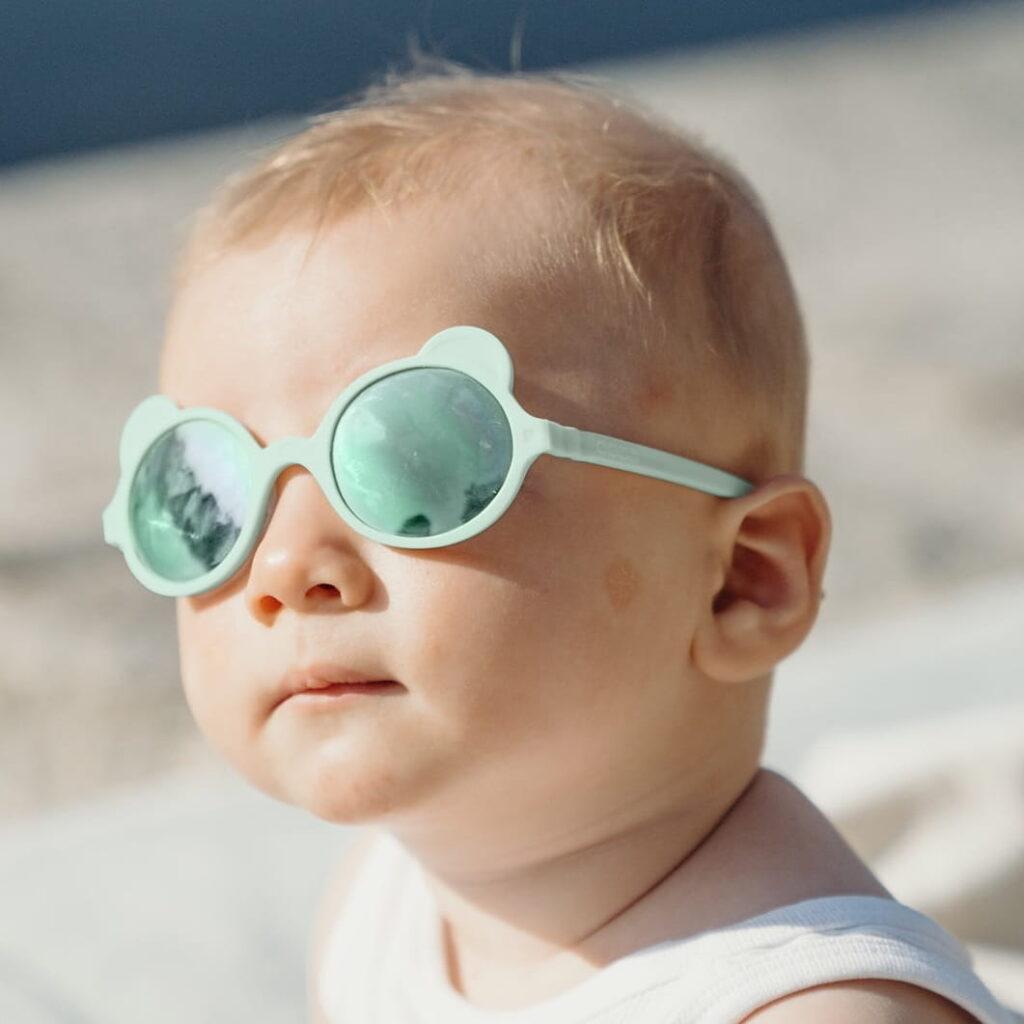 Okulary przeciwsłoneczne OURS'ON 1-2 lata Almond Green   Kietla