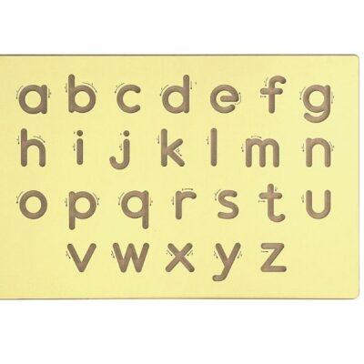 Drewniana tablica do nauki małych liter | Viga