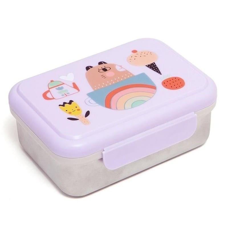 Śniadaniówka Lunchbox ze szlachetnej stali nierdzewnej Apple of My Eye   Petit Monkey