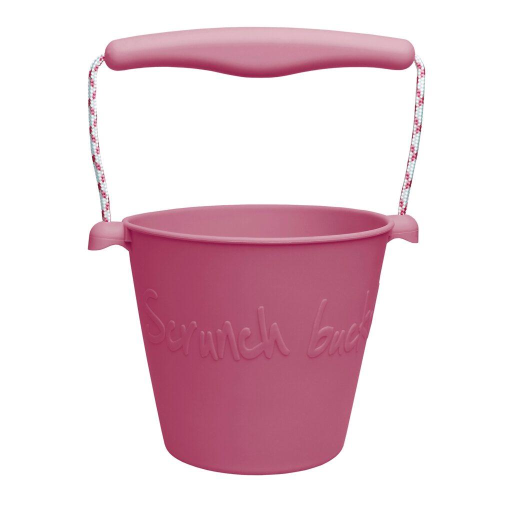 Składane wiaderko do wody i piasku Scrunch Bucket - Wiśniowy