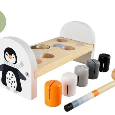 Drewniana przebijanka z pingwinem | Magni