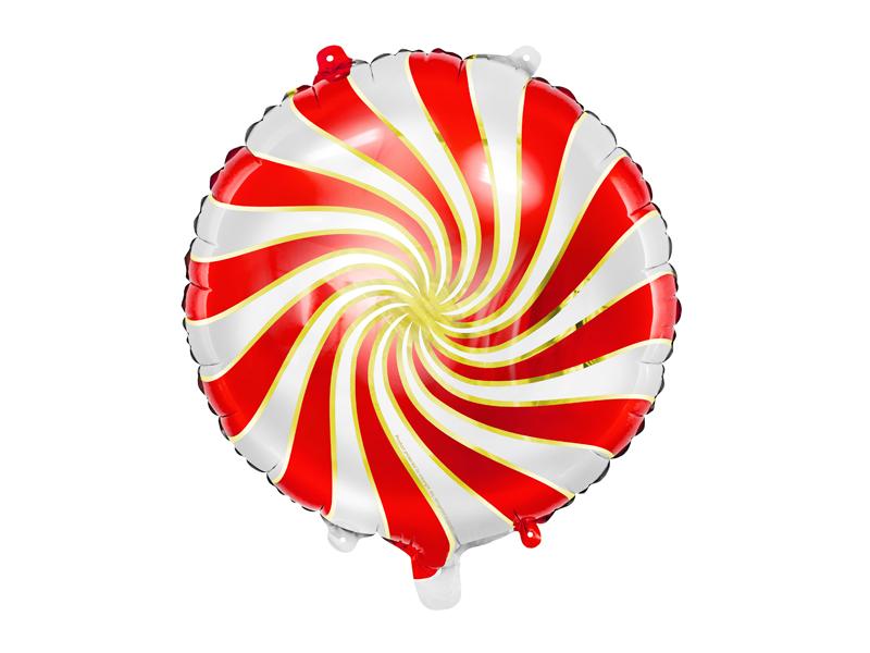 Balon foliowy Cukierek, 35cm, czerwony