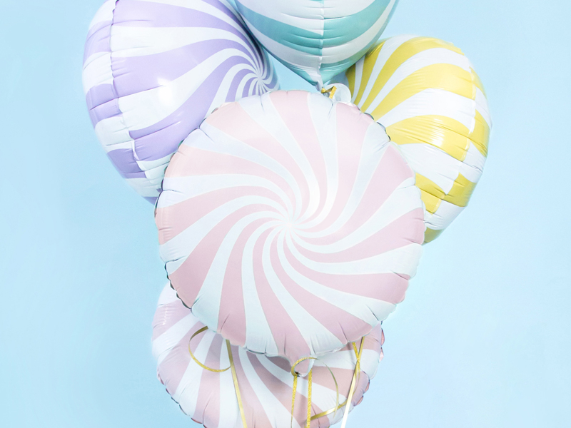 Balon foliowy Cukierek, 35cm, jasny różowy