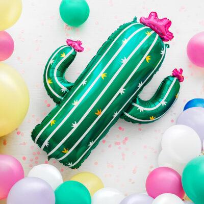 Balon foliowy Kaktus DUŻY, 60x82cm