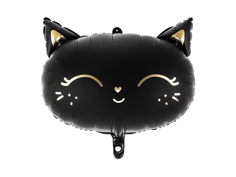 Balon foliowy Kotek, 48x36cm, czarny
