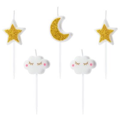 Świeczki urodzinowe Little Star 5szt