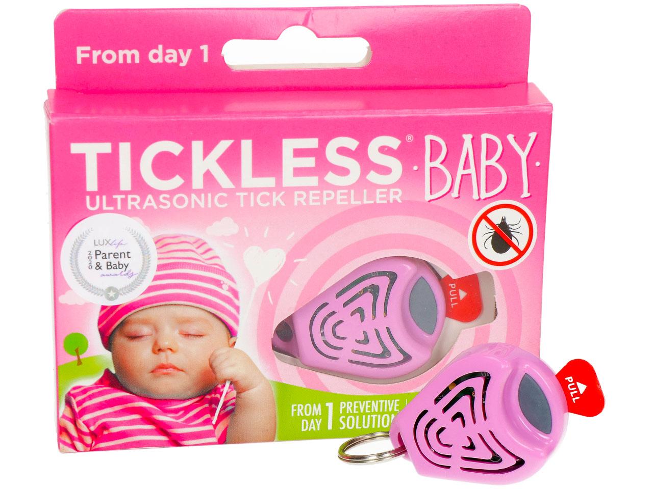 Odstraszacz kleszczy dla dzieci. Tickless Baby różowy