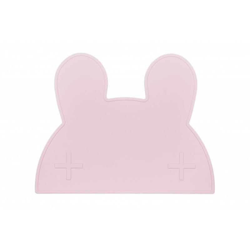 Silikonowa podkładka Króliczek Powder Pink | We Might Be Tiny