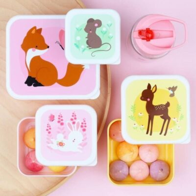 Lunchbox śniadaniówka 4szt LEŚNI PRZYJACIELE   A little lovely company