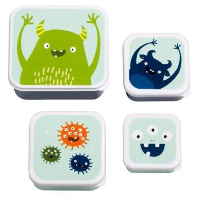 Lunchbox śniadaniówka 4szt MONSTERS | A little lovely company