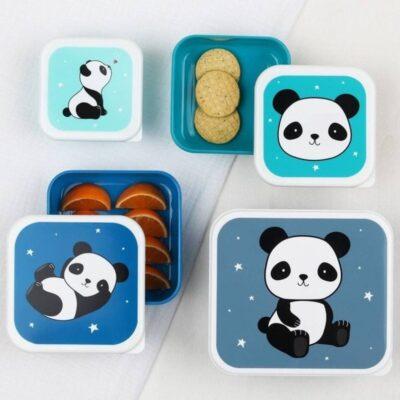 Lunchbox śniadaniówka 4szt PANDA | A little lovely company
