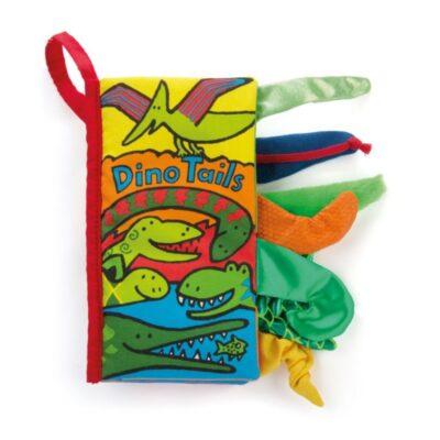 Książeczka sensoryczna Dino z ogonami 21cm   JellyCat