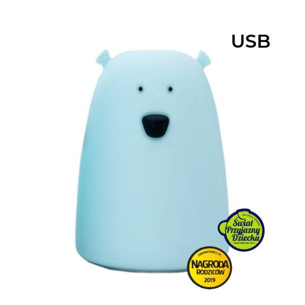 Lampka miś duży- niebieski | Rabbit&Friends