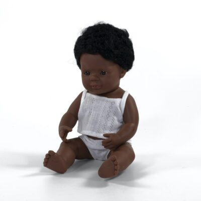 Lalka chłopiec Afroamerykańczyk 38cm | Miniland