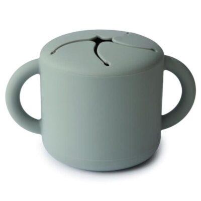 Kubek niewysypek na przekąski SNACK CUP Cambridge Blue | Mushie