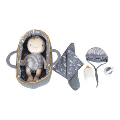 Laleczka Baby Jim 26cm z akcesoriami | Little Dutch